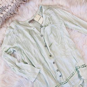 Lucky brand long sleeve blouse